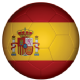 Spain Football Flag 25mm Keyring